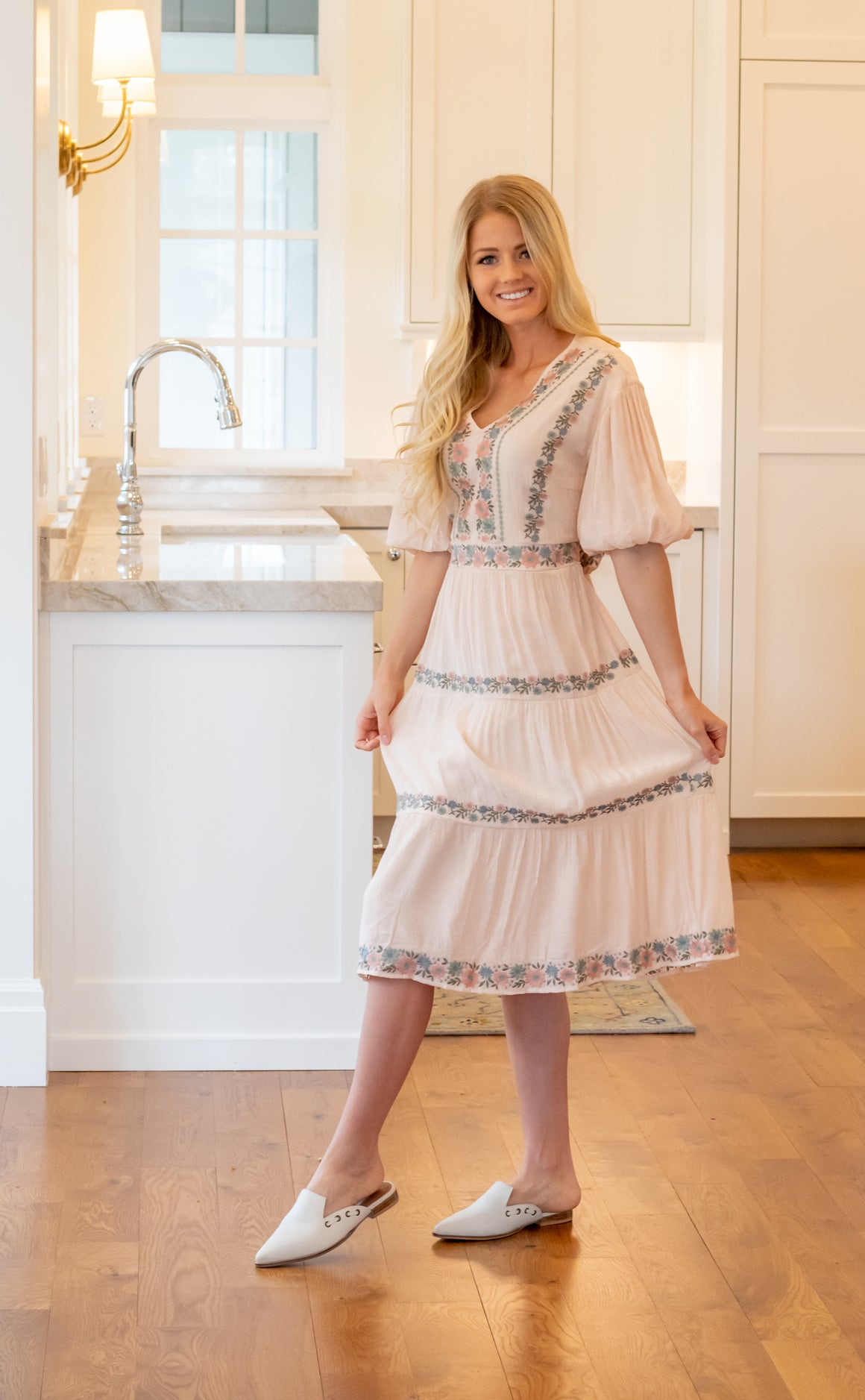 ELLA DRESS IN BLUSH