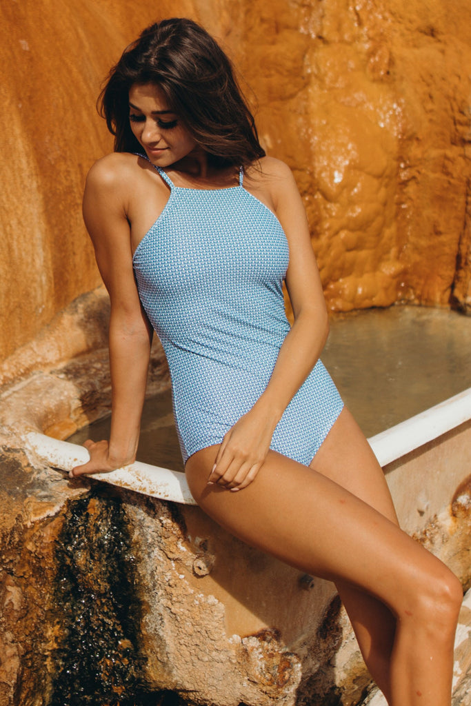 CHLOE SCALLOPED ONE-PIECE