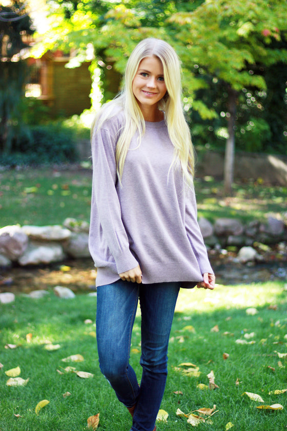 MAYLEE SWEATER IN NIGHTSHADE