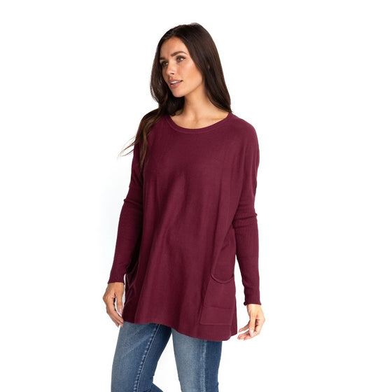 MAREN OVER-SIZED SWEATER IN MAROON