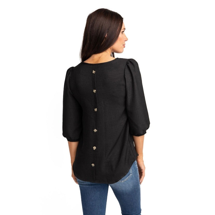 LILY BUTTON BACK IN BLACK