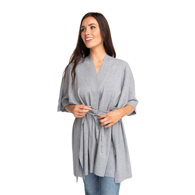THE COLE SWEATER WRAP IN GREY