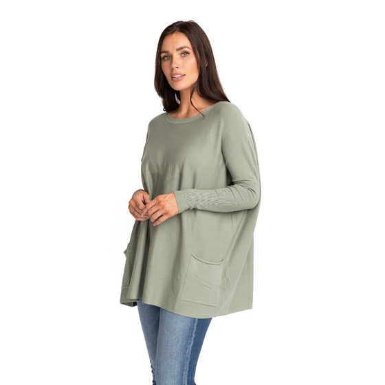 MAREN OVER-SIZED SWEATER IN MOSS