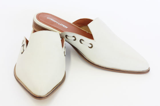 KRISTEN MULE IN IVORY (runs small)