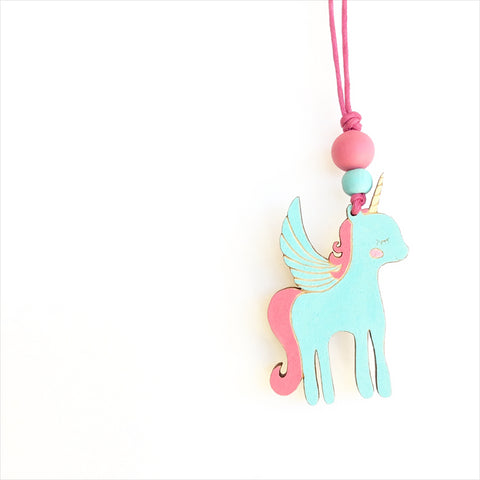 Pegasus Wooden Necklace