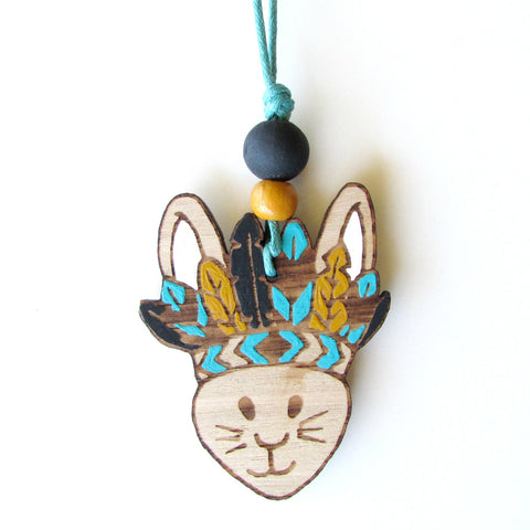Boho Bunny Necklace - Boy Bunny