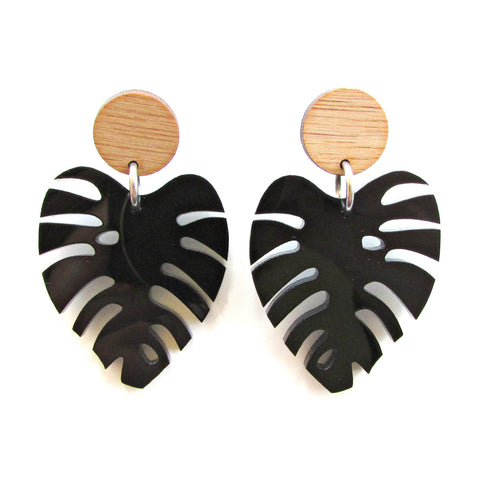 Monstera Leaf Dangles- other colours available