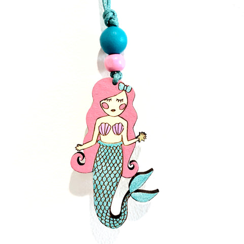PRE ORDER - Mermaid Wooden Necklace