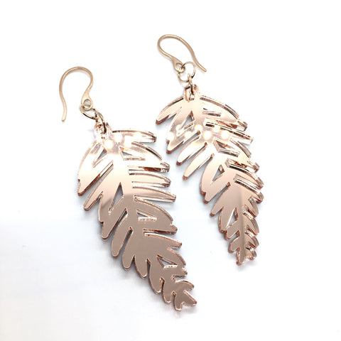 Rose Gold Lush Leaves