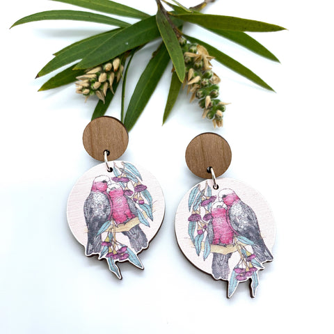 Gorgeous By Carly - Galahs Australiana earrings