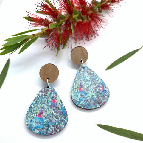Gorgeous By Carly - Rainbow Lorikeet Australiana earrings