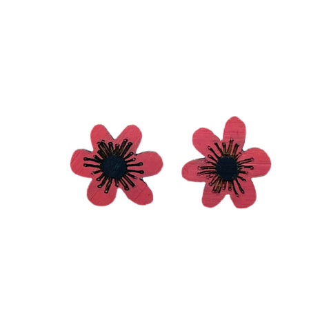 Anzac Day earrings poppies