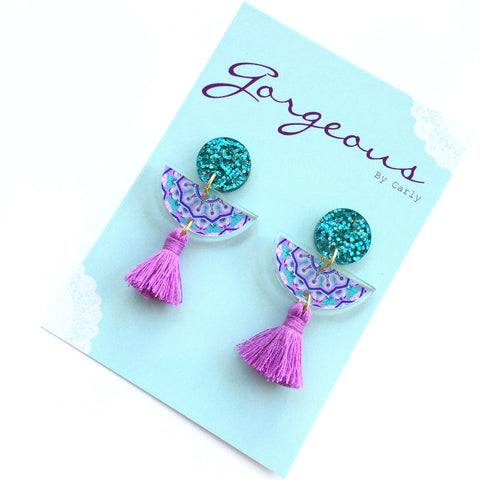 Mermaid Mandala Dangles