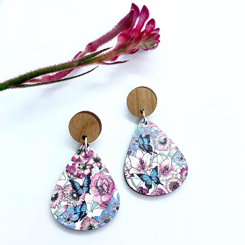 Gorgeous By Carly - Butterfly Australiana earrings