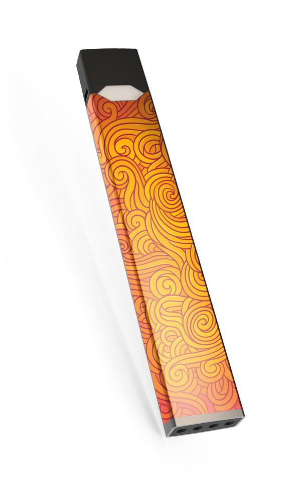 Orange wavy trippy Bliss JUUL Skin