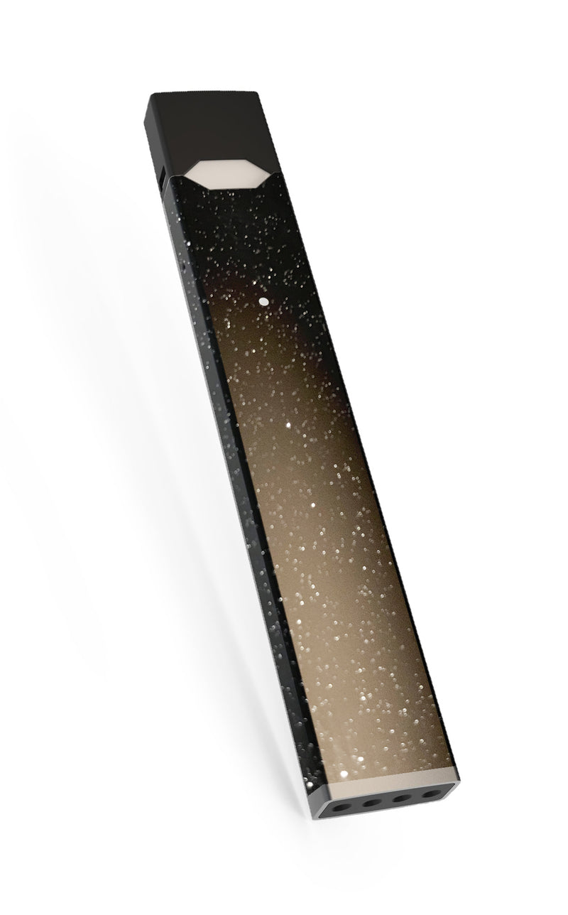 Black Sparkly shiny Cosmos JUUL Skin