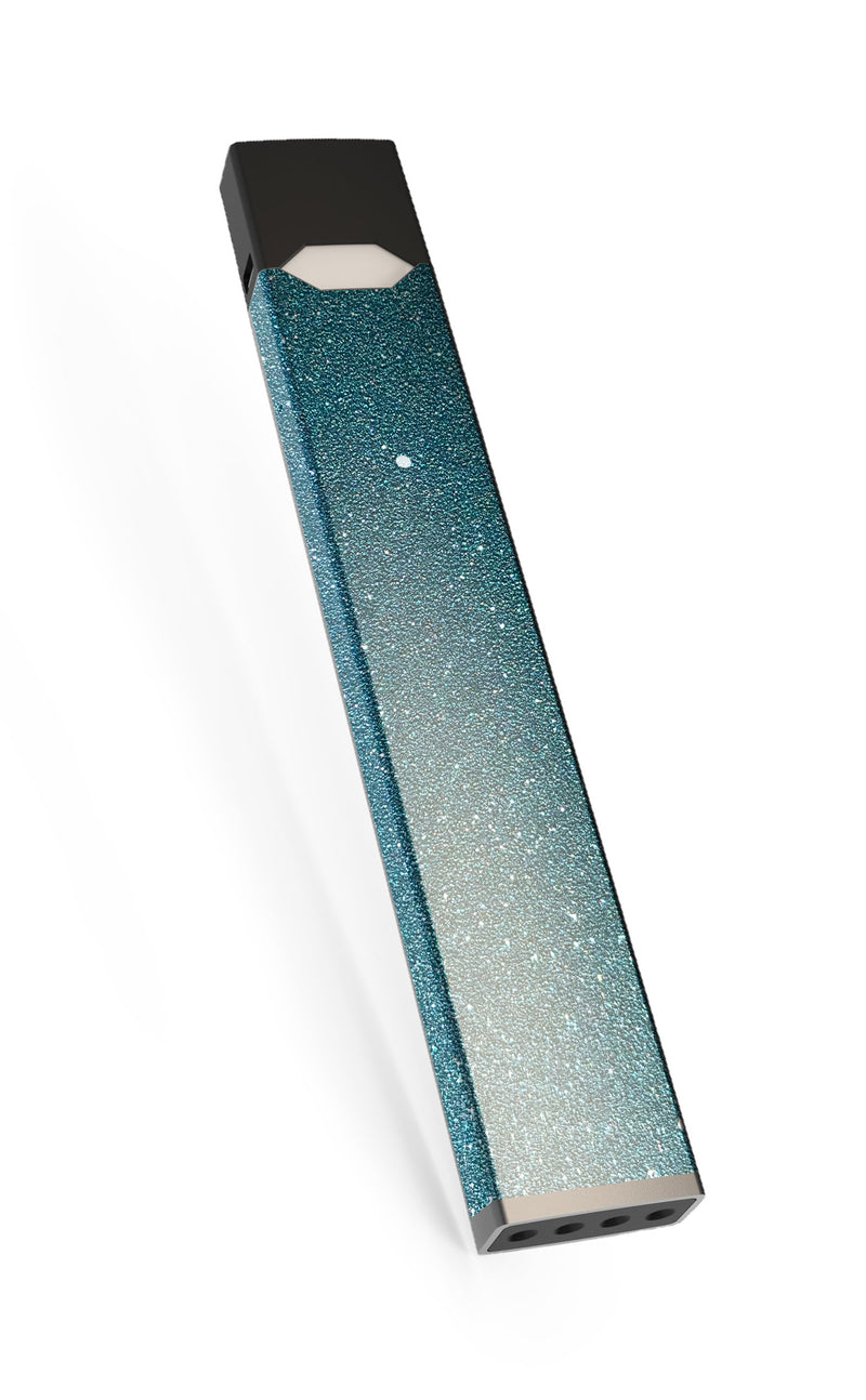 Light blue textured Sparkly Juul skin