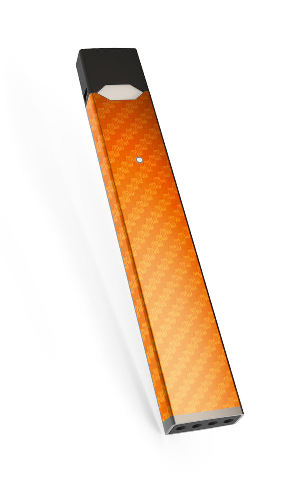 orange Carbon Fiber Juul Skin