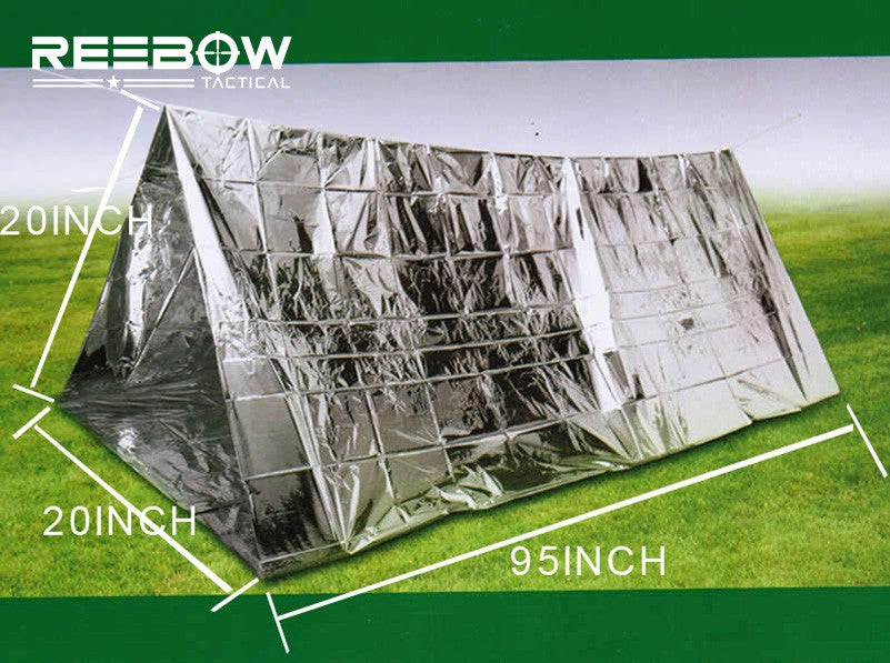 ... Survival Emergency Tent Recycling Aluminum Film First Aid Rescue Shelter - C&wish & Survival Emergency Tent Sleeping Bag Aluminum Film First Aid ...