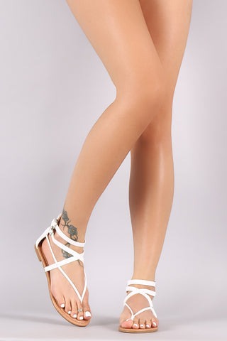 49d45d41dbafd0 Intertwined Strappy Thong Flat Sandal.  25.87. City Classified Crisscross  ...