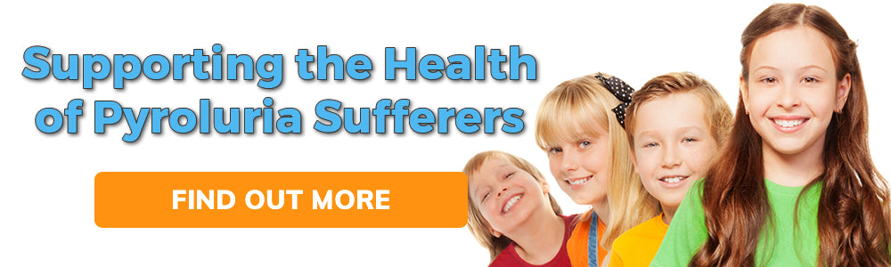 Supporting the Health of Pyroluira and Pyrrole Disorder Sufferers Promotinal Banner