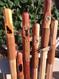 Redwood Walking Stick Wood Hiking Staff Hand Carved