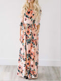ByChicStyle Casual Ecstatic Harmony White Floral Print Maxi Dress