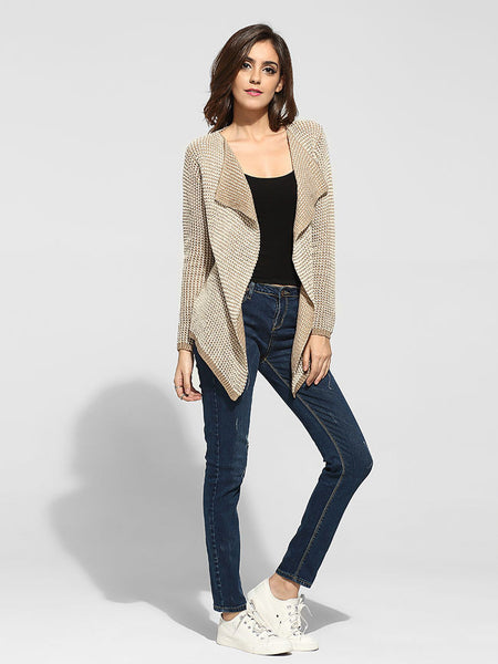 Lapel Worsted Assorted Colors Cardigan - Bychicstyle.com