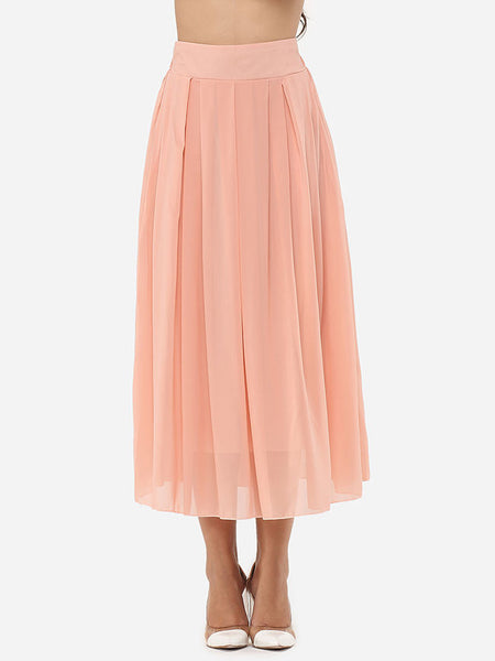 Casual Plain Captivating Maxi-skirt