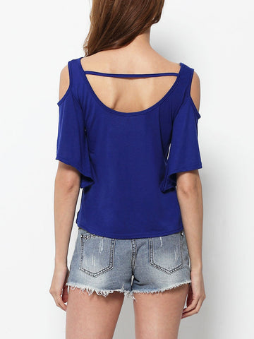 Hollow Out Casual T-shirt - Bychicstyle.com