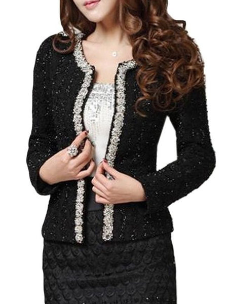 Patchwork Beading Graceful Blazers - Bychicstyle.com