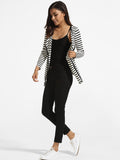 ByChicStyle Lapel Knit Striped Cardigan - Bychicstyle.com