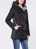 ByChicStyle Hooded Double Breasted Pocket Padded Coat - Bychicstyle.com