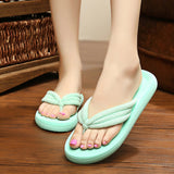 ByChicStyle Casual Candy Color Ribbon Dot Clip Top Flip Flops Outdoor Beach Flat Slippers