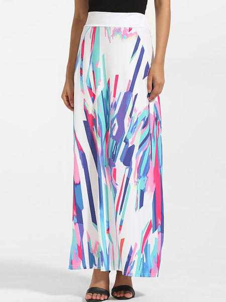 Dacron Printed Maxi-skirt - Bychicstyle.com