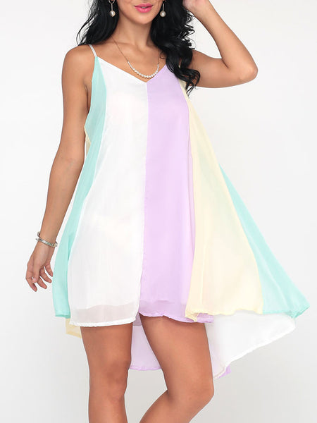 Gradient Charming Spaghetti Strap Shift Dress - Bychicstyle.com