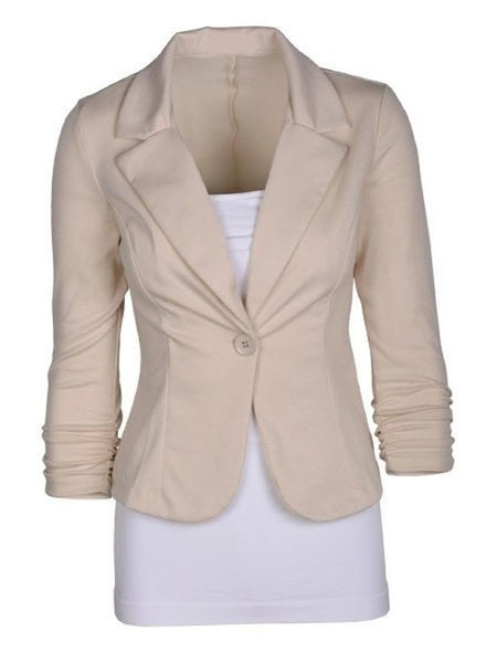 Fancy Plain Fancy Lapel Blazer - Bychicstyle.com