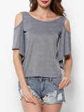 ByChicStyle Hollow Out Casual T-shirt - Bychicstyle.com