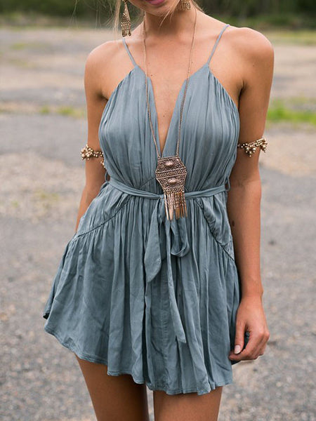 Casual Bandeau High Rise Ruched Dress