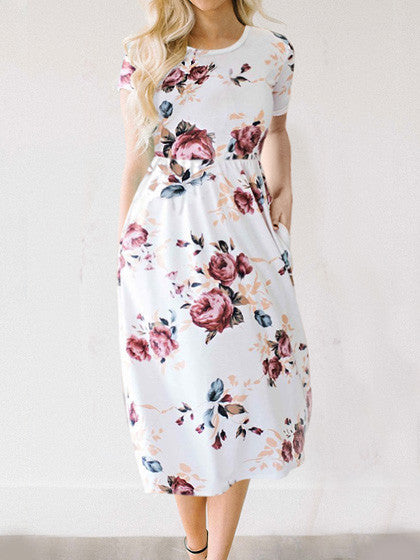 Casual Feeling Gorgeous Floral Print Dress