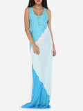 ByChicStyle Color Block Delightful Scoop Neck Maxi-dress - Bychicstyle.com