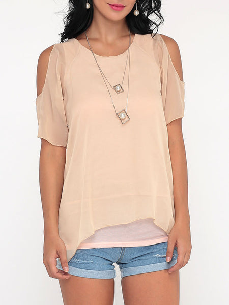 Casual Plain Batwing Delightful Off Shoulder Blouse