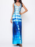 ByChicStyle Printed Chic Square Neck Maxi-dress - Bychicstyle.com