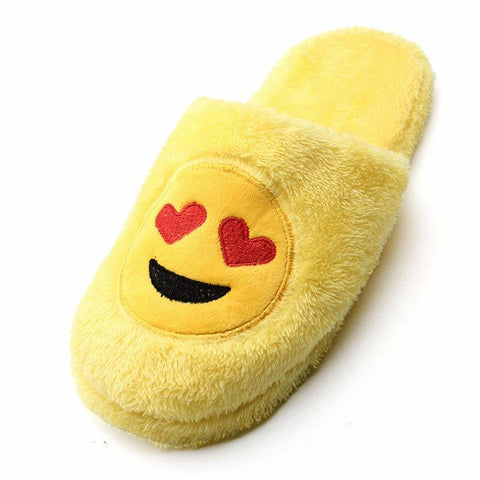 Casual Big Size Expression Face Cute Slip On Indoor Floor Slipper