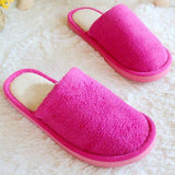ByChicStyle Casual Winter Coral Velvet Home Shoes Soft Keep Warm Slippers