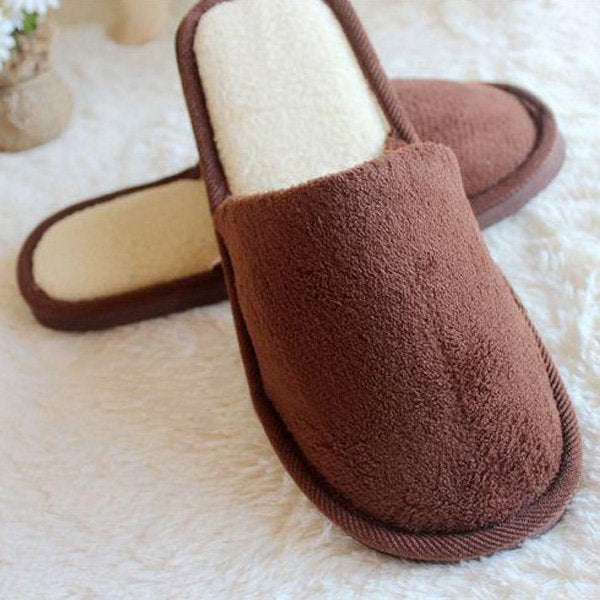 Casual Winter Coral Velvet Home Shoes Soft Keep Warm Slippers