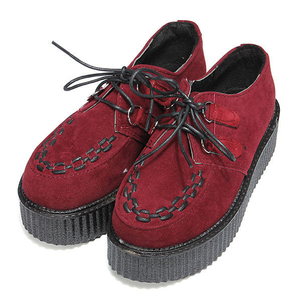 Casual Retro Suede Round Toe Platform Shoes