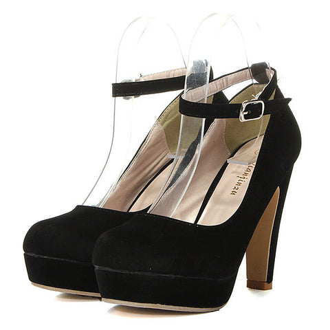 Casual Suede Pure Color High Heel Shoes