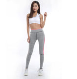 ByChicStyle Women Lady Pink Legging Spring Summer light grey Pant Autumn High Waist Leggings