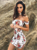 ByChicStyle Pretty Sexy Bodyfit Floral-Print Off-Shoulder Mini Dress